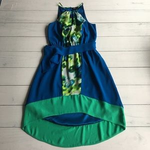 Express Blue Print Sundress Sz XS